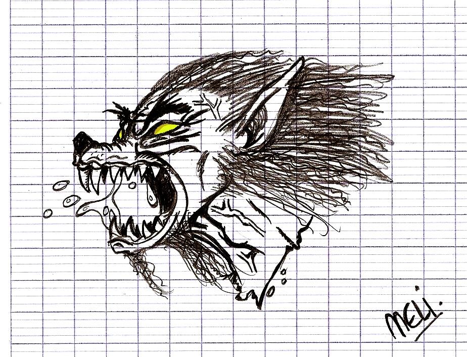 Pin loup garou dessin picture on pinterest - Dessin loup garou ...